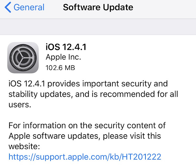 iOS 12.4.1 Features