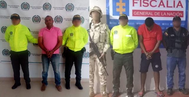 Sindicados por homicidio fueron capturados en Fonseca y Villa Martín (Machobayo)
