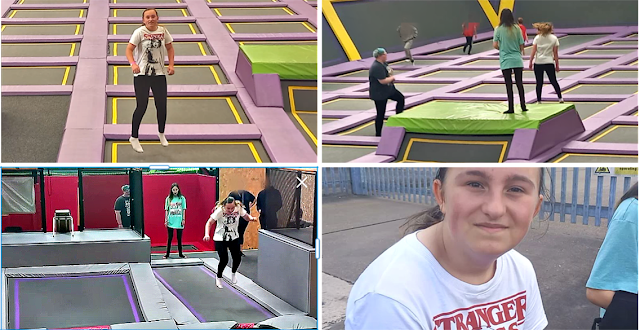 At the trampoline park