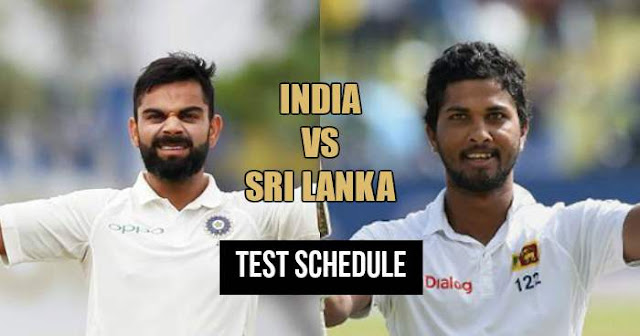 India vs Sri Lanka: Test Series Schedule 2017