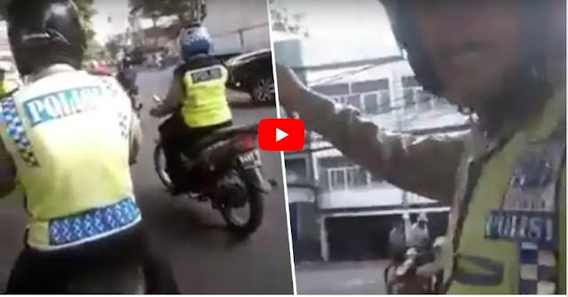 Polisi ini Minta Uang 150 ribu Tapi Gak Dikasih, Malah Marah dan Sita Motor Pengendara