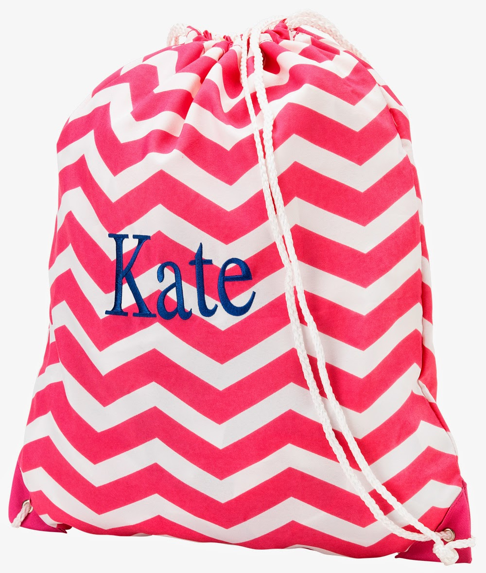 Pretty Personalized Gym Bags