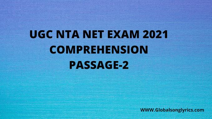 UGC NTA NET Comprehension | Passage-2 | Unit-3rd |