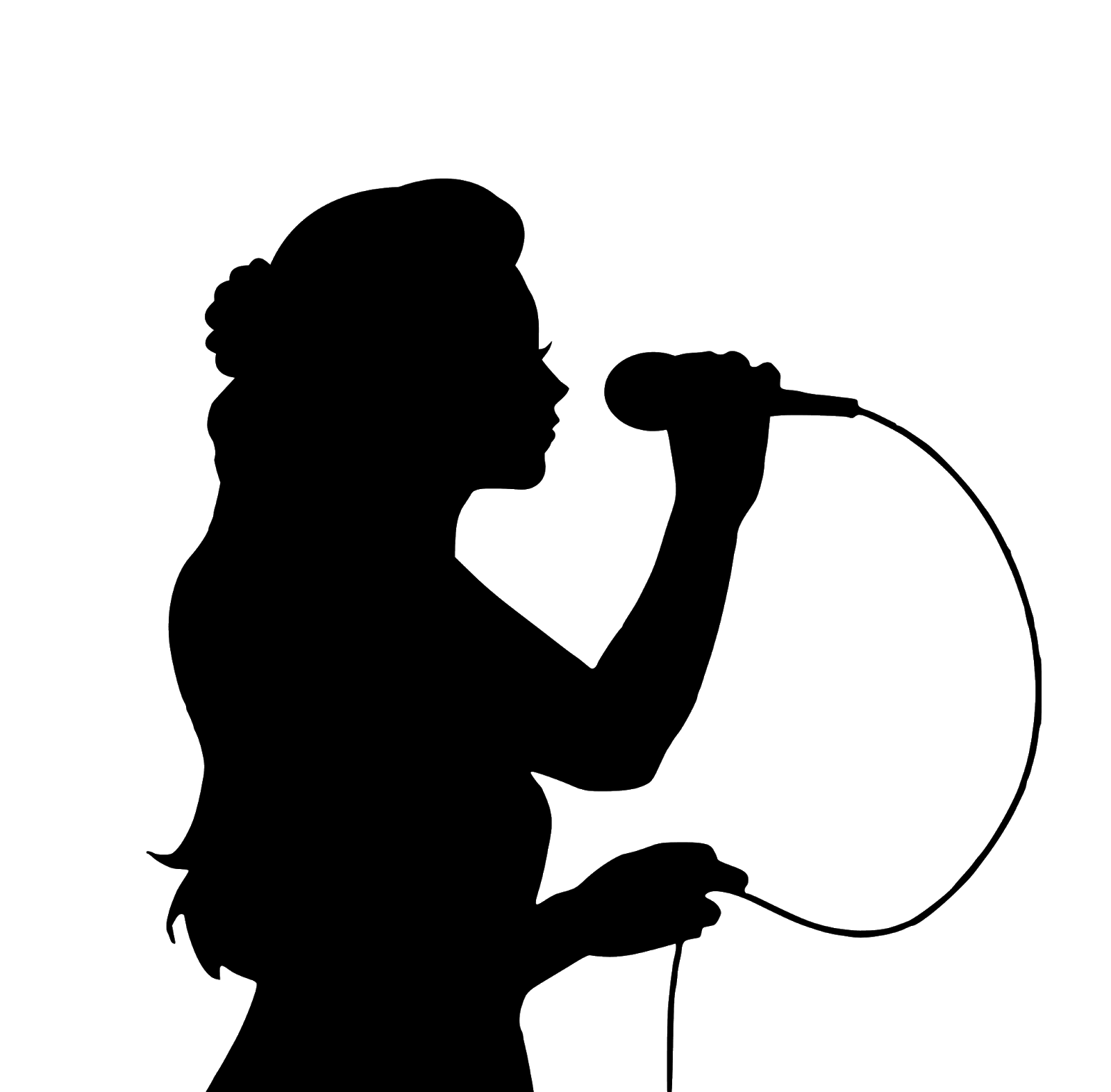 Картинка силуэт певца