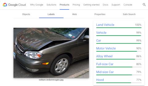 Analyse d'image de Google