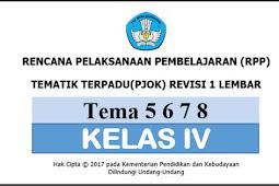 Download RPP 1 Lembar PJOK KK 13 SD/MI Kelas 4