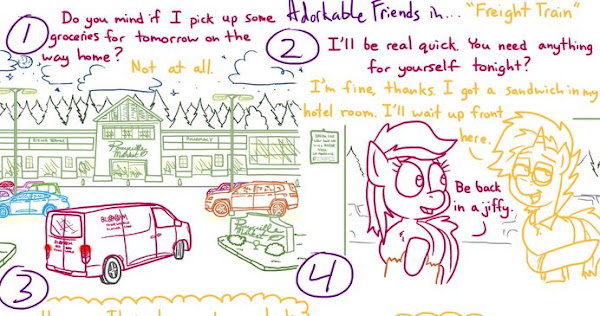 Pony Comic - Adorkable Twilight and Friends - Freight Train