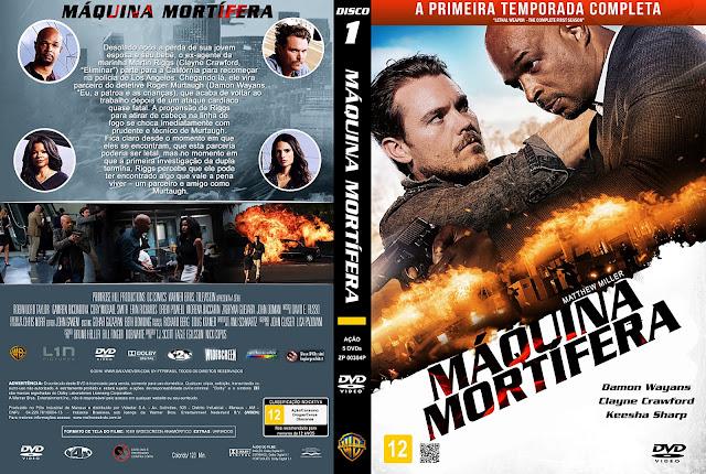 Capa DVD Máquina Mortífera Primeira Temporada Disco 1