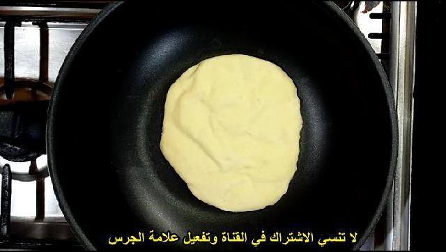 طريقة عمل العيش البلدي المصري عملنا عيش بيتي بدون فرن علي البوتاجاز الشيف محمد الدخميسي