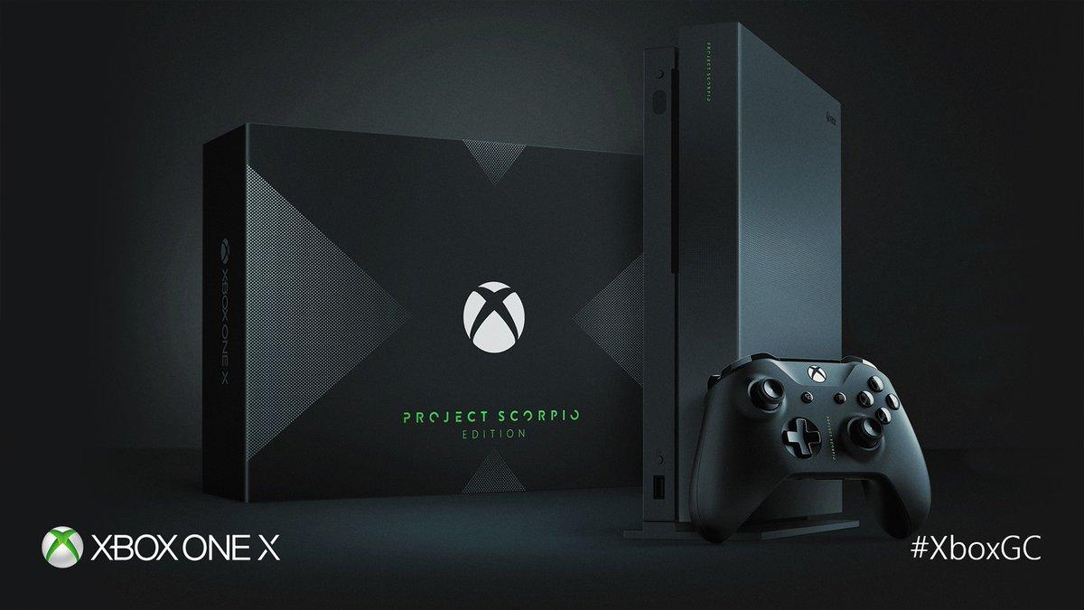 Se confirma versión limitada Xbox One X - Project Scorpio a 499 euros