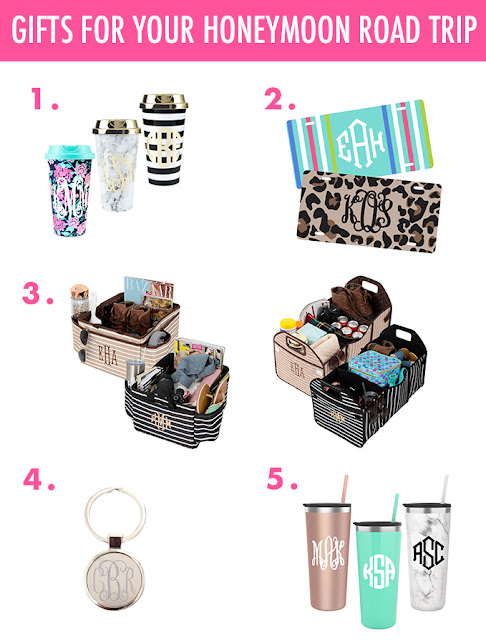 monogram road trip items