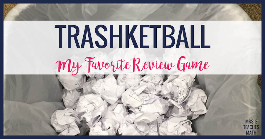 Kinder Garden: Trashketball - My Favorite Review Game