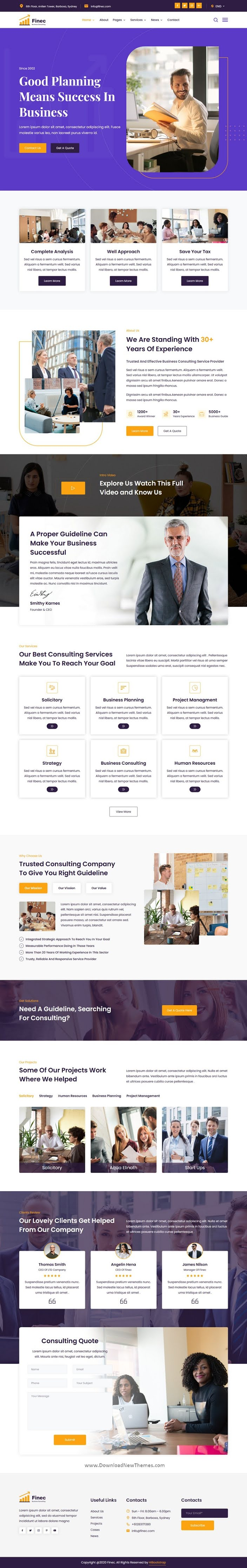 Business Consulting Agency Template