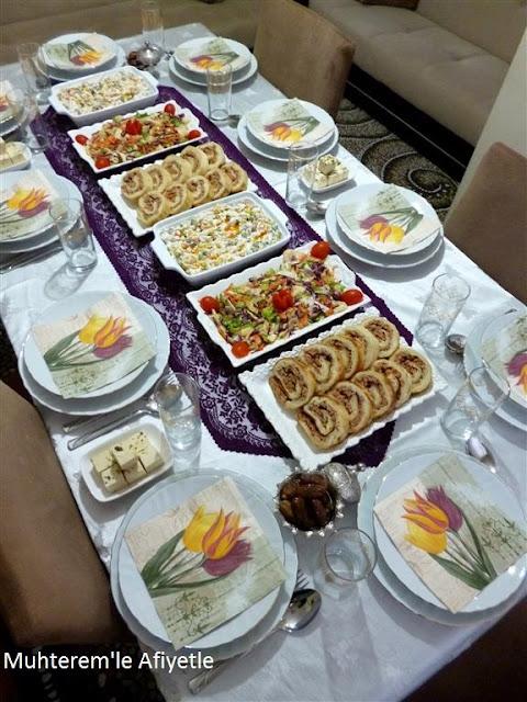 iftar yemeği sofrası