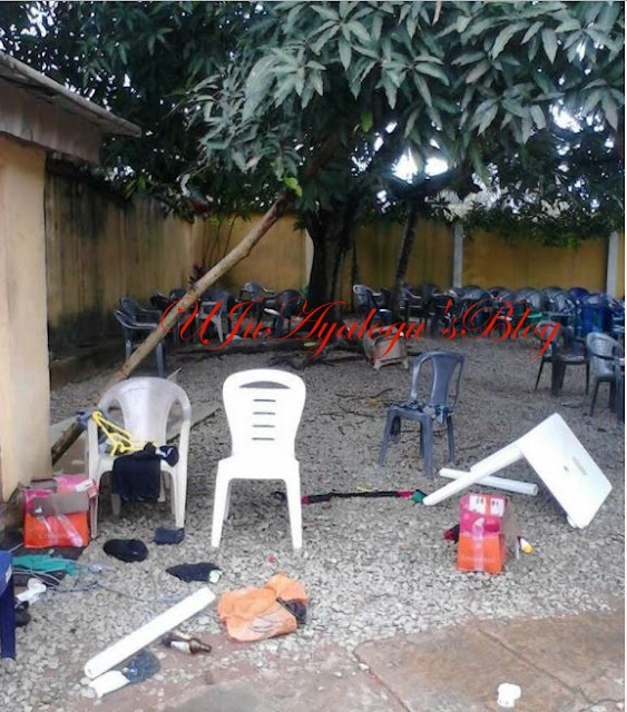 See the Sorry State of Nnamdi Kanu's House after Military Invasion (Photos)