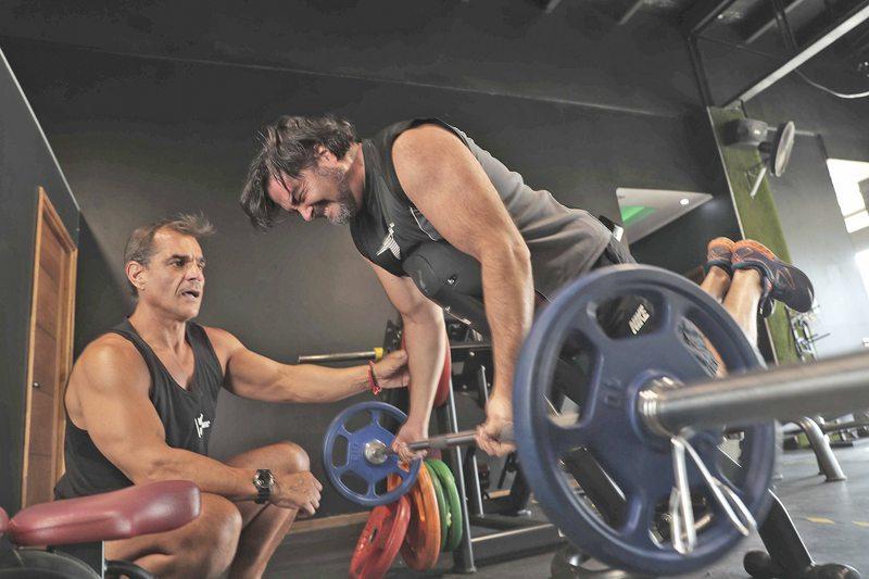 Pancho López entrena con Marko Fabjanovic para llegar bien a los 50