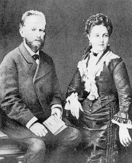 Tchaikovsky and his wife Antonina on their honeymoon, 1877