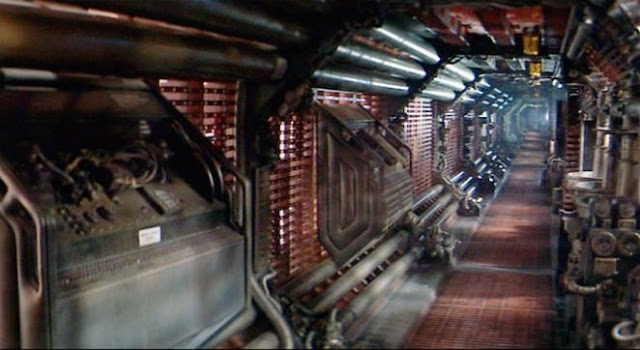 Corridor of the Nostromo space ship in Alien