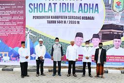 Soekirman Apreiasi Pelaksanaan Shalat Idul Adha 1441 H di Sergai yang Berlangsung Khidmat