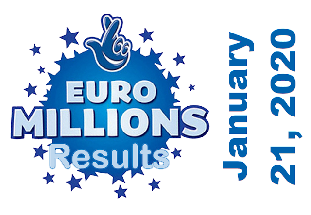 EuroMillions Results for Tuesday, January 21, 2020