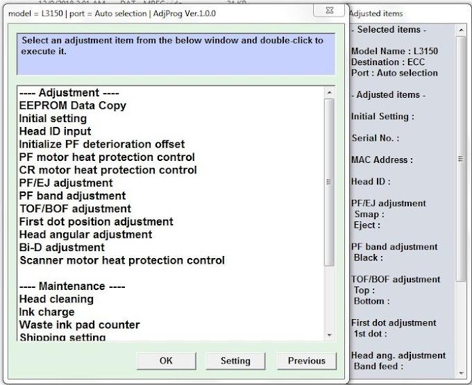 Epson L3150 Ink Pad Full (Problem Solution)