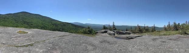 Panorama of summit of bald peak
