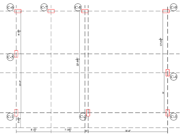 Outer column layout plan