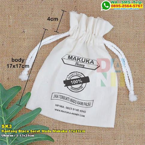 Kantong Blacu Serut Madu Makuka 17x21cm