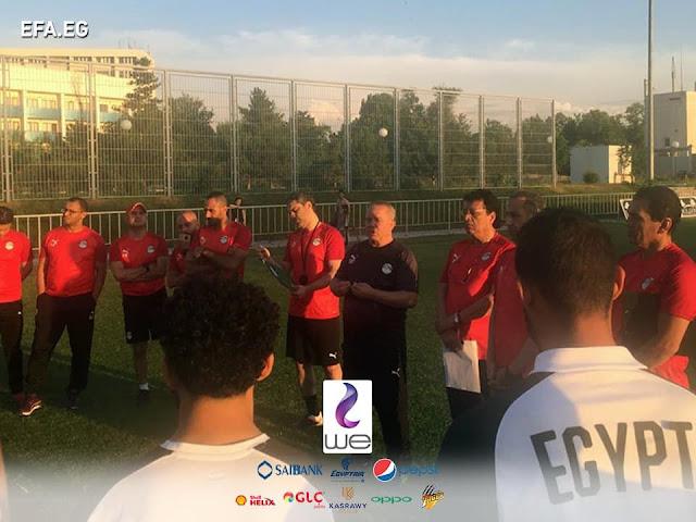 آخر استعدادات المنتخب الأوليمبي قبل مباراة أوزبكستان الودية