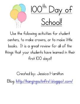 http://www.teacherspayteachers.com/Product/I-am-100-Days-Smarter-506271