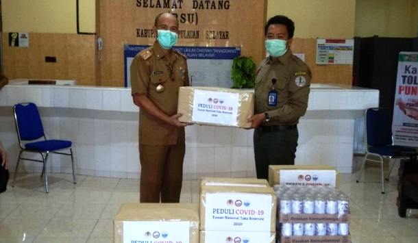 Balai Taman Nasional Takabonerate Support Tenaga Medis RSUD Selayar Perangi COVID-19