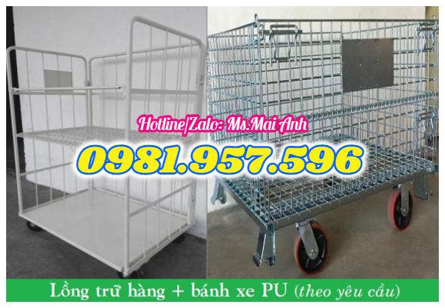 Lồng thép theo yêu cầu, sản xuất lồng trữ hàng, lưới thép bánh xe