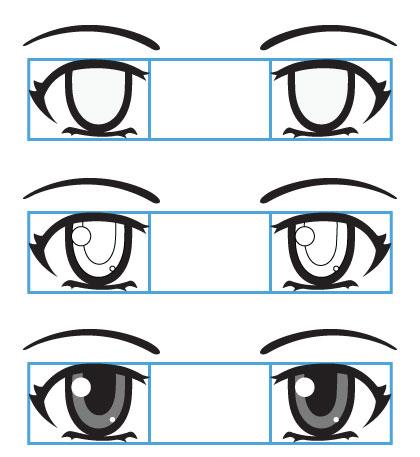 menggambar mata pada anime