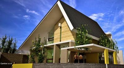 model gambar atap rumah minimalis sederhana terlihat mewah