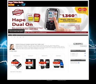 Template Toko Online Blogger Special