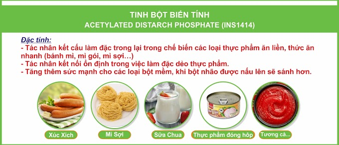 TINH BỘT BIẾN TÍNH ACETYLATED DISTARCH PHOSPHATE (INS1414)