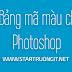 Bảng mã màu trong photoshop