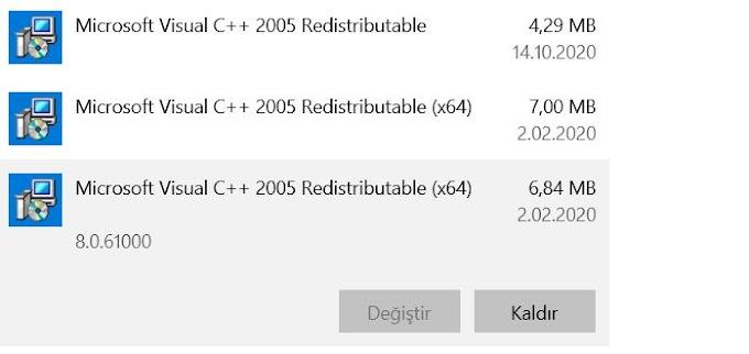 vcruntime140_1.dll Hatası Çözümü