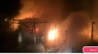 وفاة طفل إثر إندلاع حريق هائل