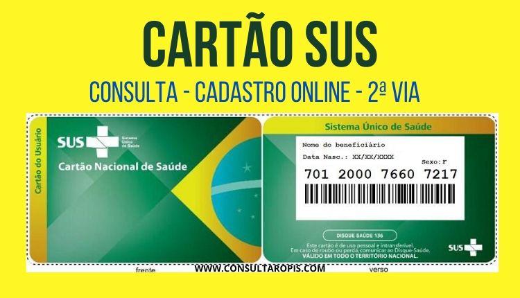 Cartão SUS 2020 - consulta, 2 via