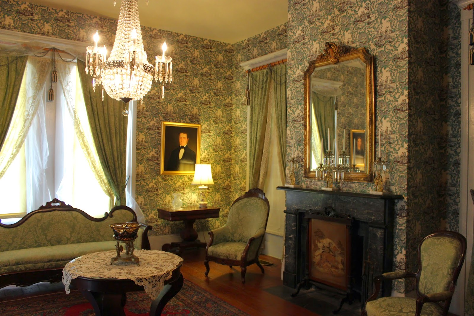 Haunted Deep South Ghost In The Grevemberg Parlor