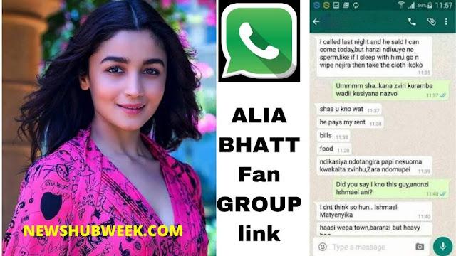 Join 10+ Alia Bhatt Fans WhatsApp Groups Links latest update