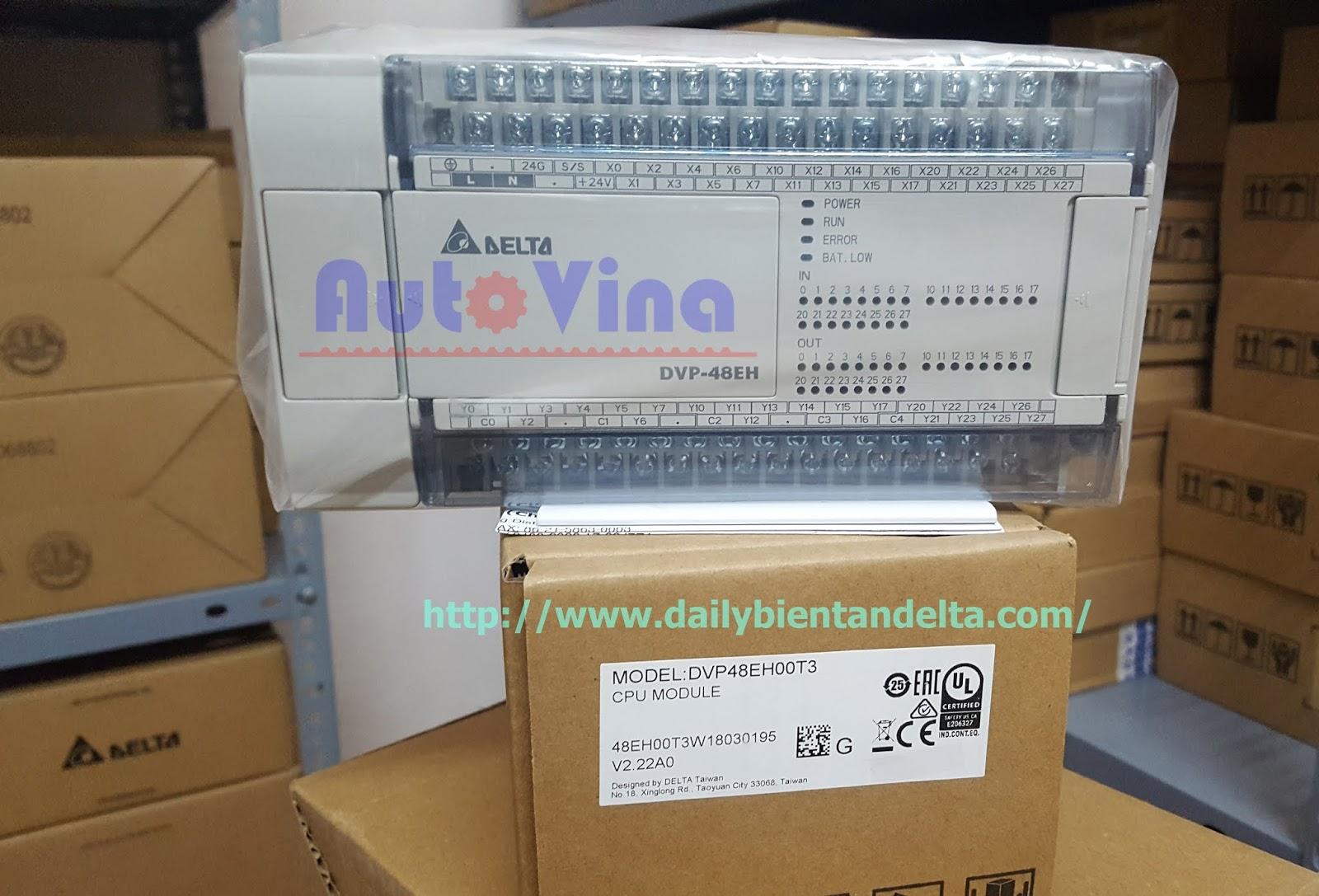 Đại lý bộ điều khiển lập trình PLC Delta DVP48EH00T3. PLC Delta điều khiển nhiều động cơ Servo
