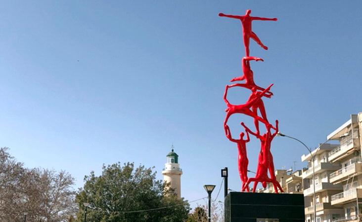 """Ανακοίνωση της παράταξης """"Πόλη & Πολίτες"""" για τη μετακίνηση του γλυπτού """"Anatasis Delta"""" από την πλατεία Φάρου"""