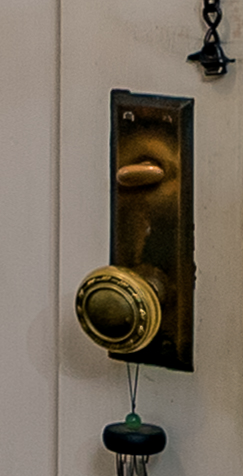 From high resolution image by photographer John Flack--Chicago Design Sears door hardware Sears Elsmore 1350 Forest Ave St Louis MO 63122