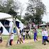 Alunos participam de atividades de recreação no Parque Municipal da Uva