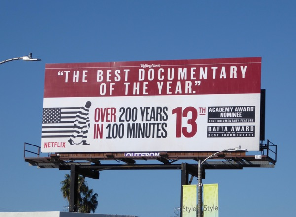 13th Oscar nominee documentary billboard
