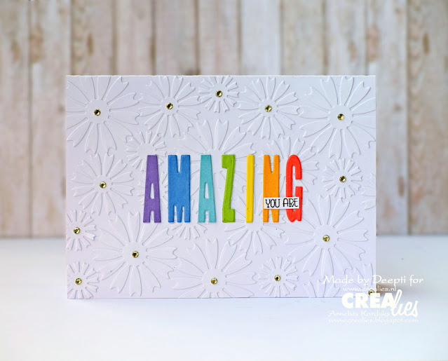 Clean & simple - you are amazing  handmade card