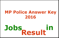 MP Police Answer Key 2016