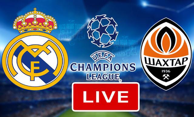 بث مباشر مباراة ريال مدريد وشاختار دونيتسك فى دوري أبطال أوروبا